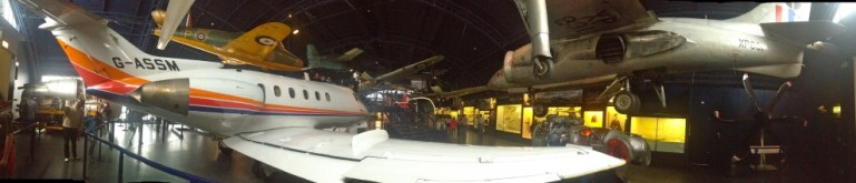 Aircraft hanger, London Science Museum, England.