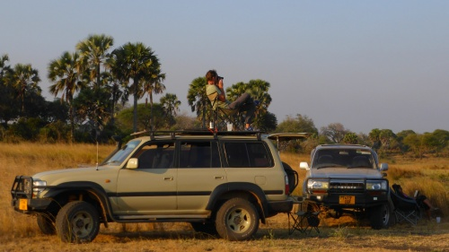 Sundowners, Katavi National Park, Tanzania. July 2014
