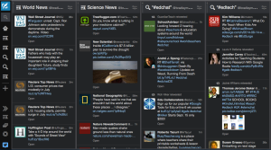 My TweetDeck homepage on Mozilla Firefox.