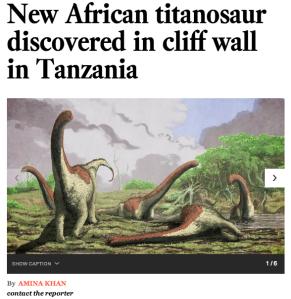 Tanzania dinosaur