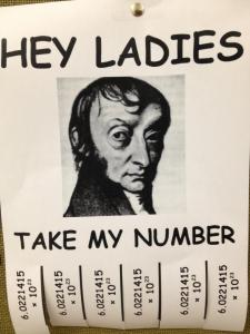 Avogadro's number. Source unknown, but if it's yours, please contact me and I will offer proper credit.