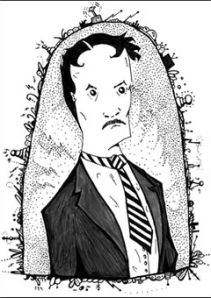 Nikola Tesla portrait via The Oatmeal.