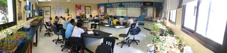 Science classroom, Dare es Salaam, Tanzania.