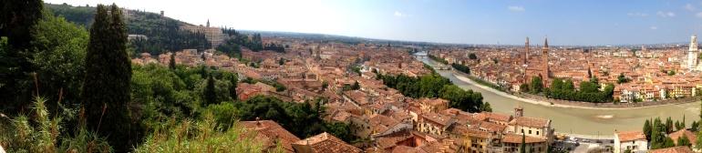 Verona, Italy, from Castle San Pietro.