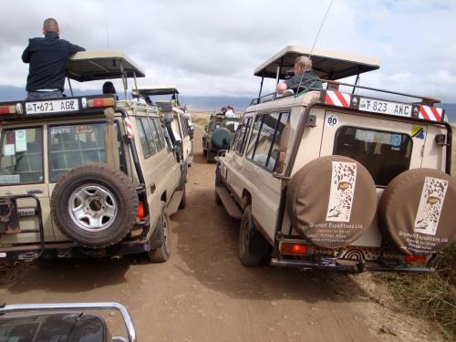 Too many tourists. Ngorogoro Crater, Tanzania. June 2009