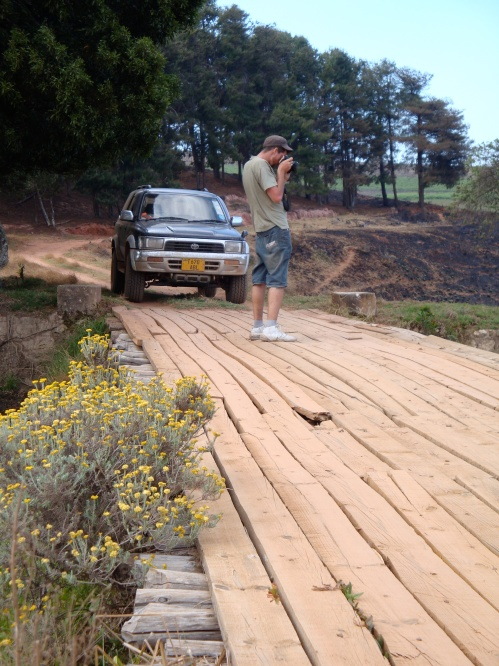 Bridge inspection, northern Malawi. October 2009