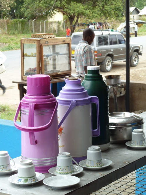 Roadside coffee stop, Udzungwa Mountains, Tanzania. 2012